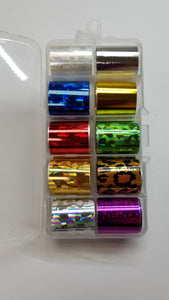 Foil - 10 Pack Multi - Holographic with Leopard