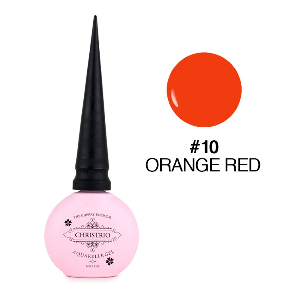 Christrio Aquarelle Gel - #10 Orange Red