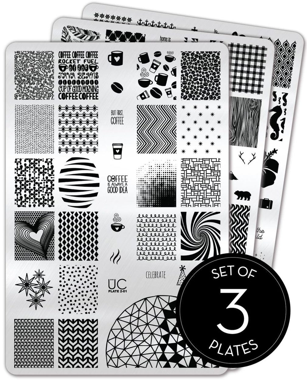 UberChic Stamping Plates - Collection 02