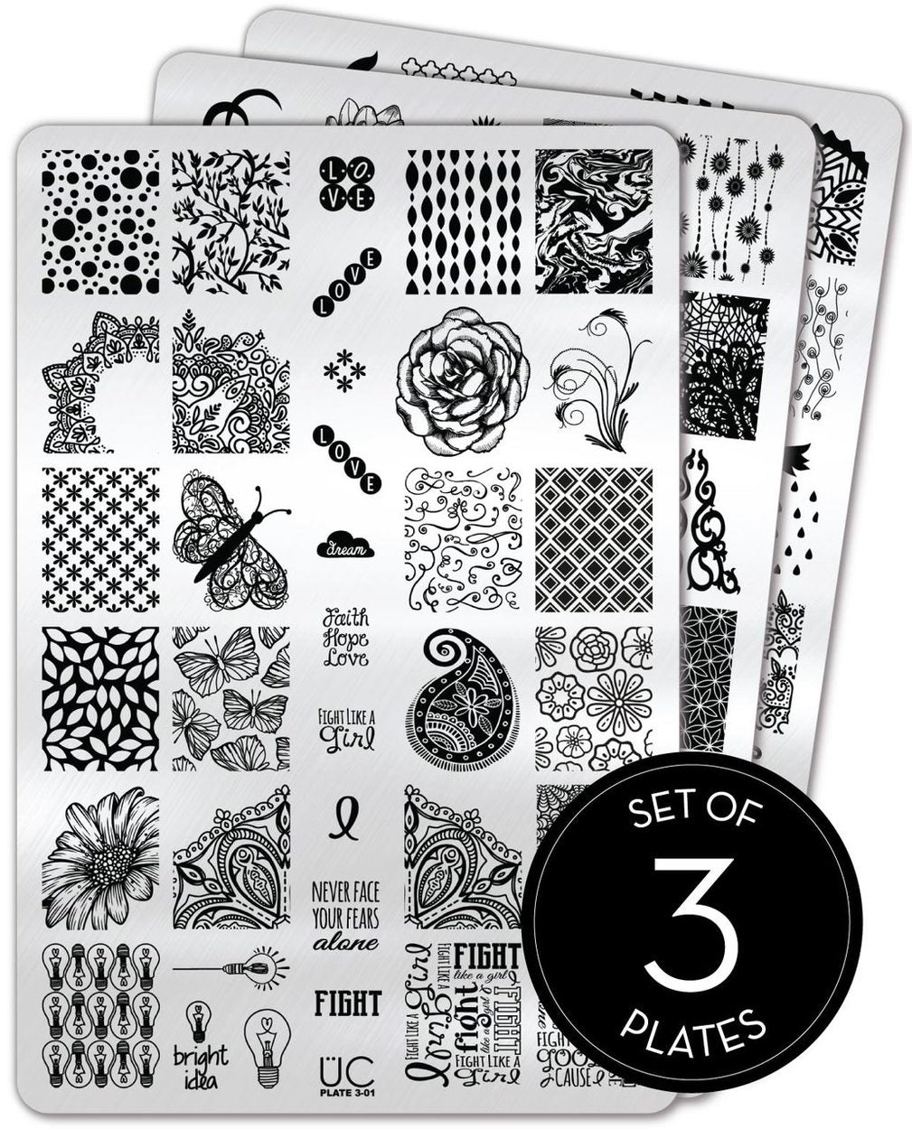 UberChic Stamping Plates - Collection 03