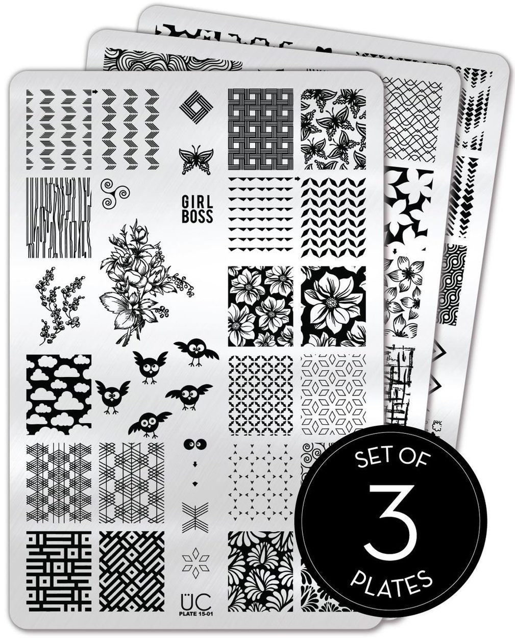 UberChic Stamping Plates - Collection 15