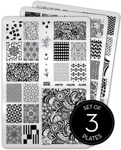 UberChic Stamping Plates - Collection 17