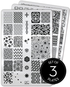UberChic Stamping Plates - Collection 18