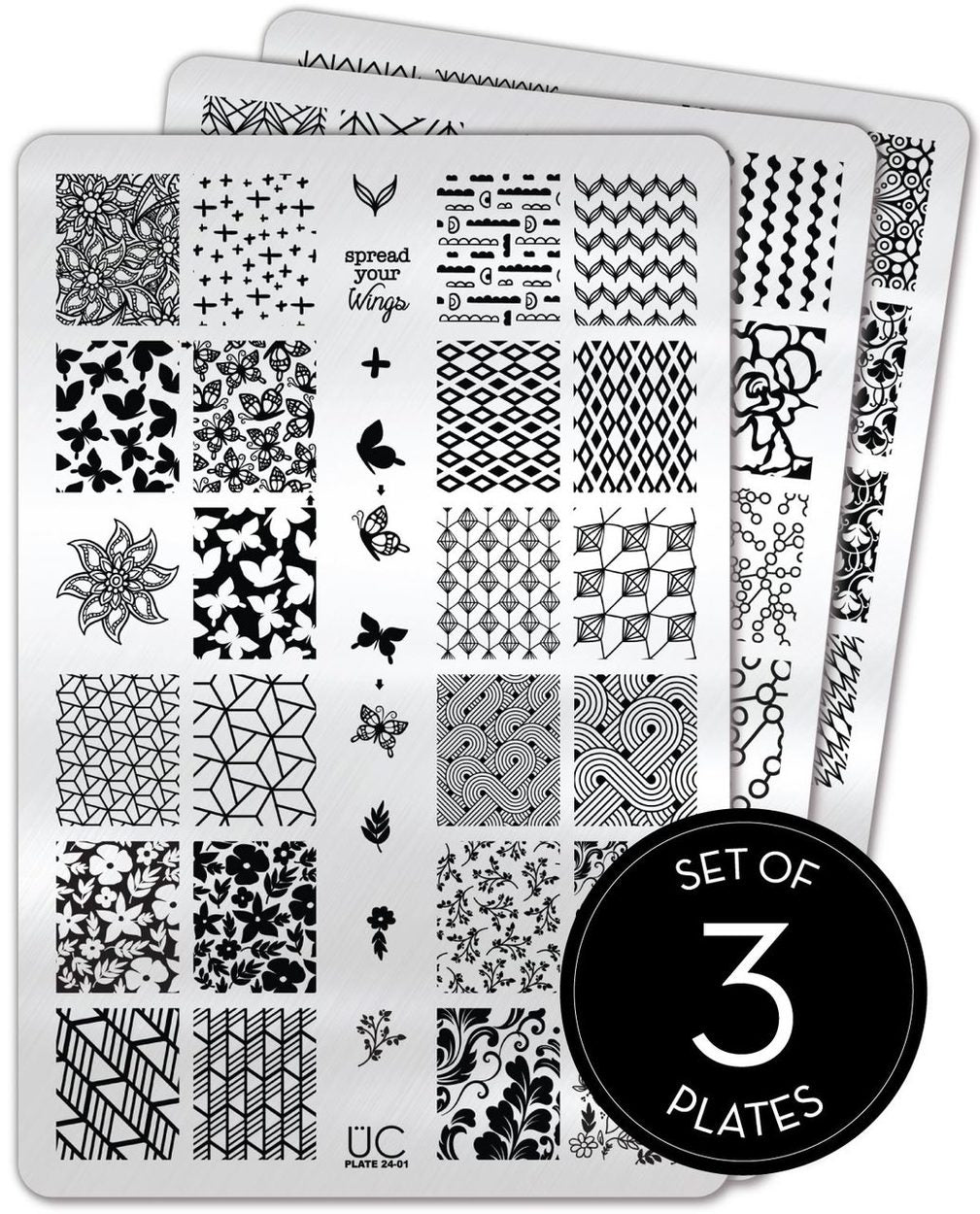 UberChic Stamping Plates - Collection 24