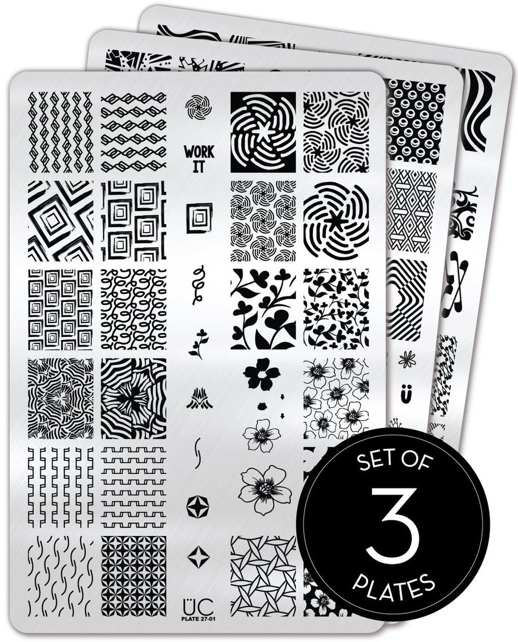 UberChic Stamping Plates - Collection 27