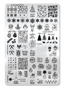 UberChic Stamping Plate - Jingle All the Way