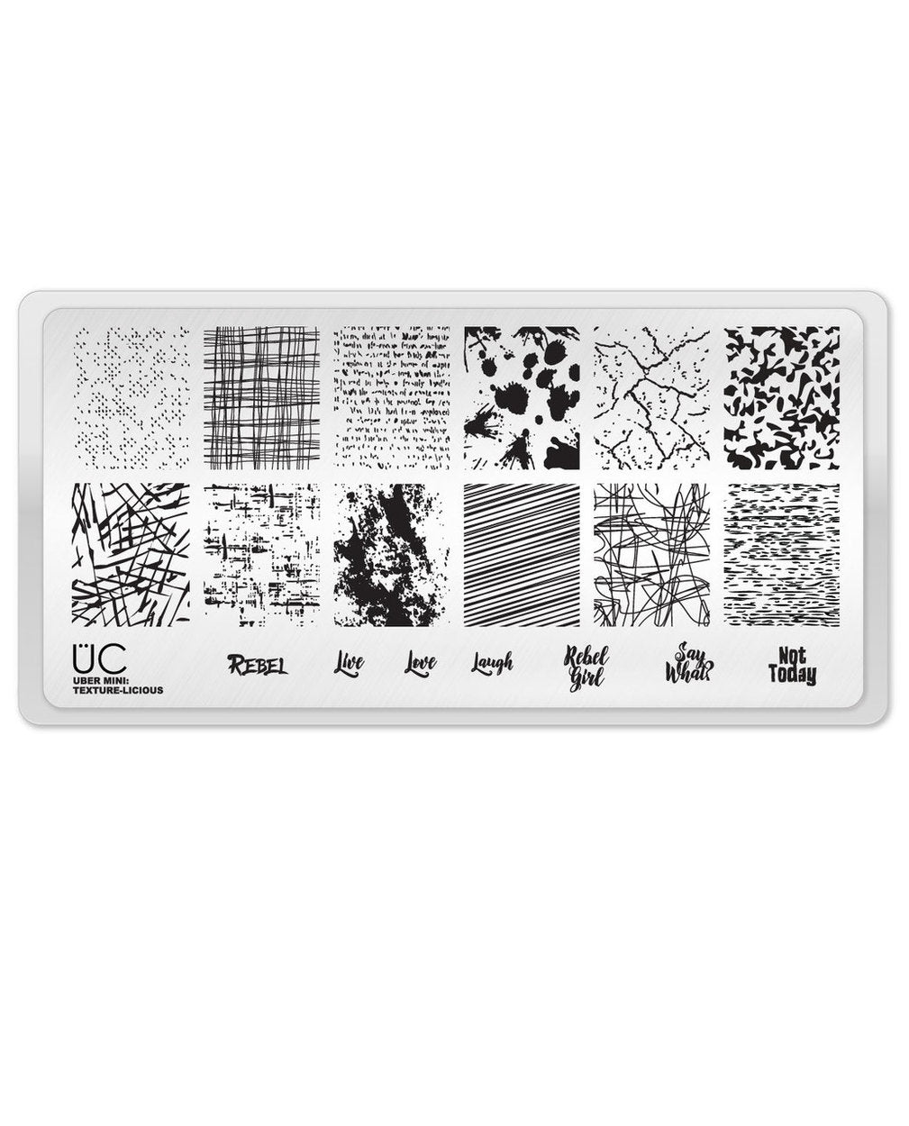 UberChic Stamping Plate Mini - Texture-Licious