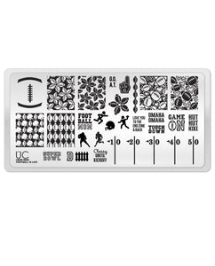 UberChic Stamping Plate Mini - Football is Life
