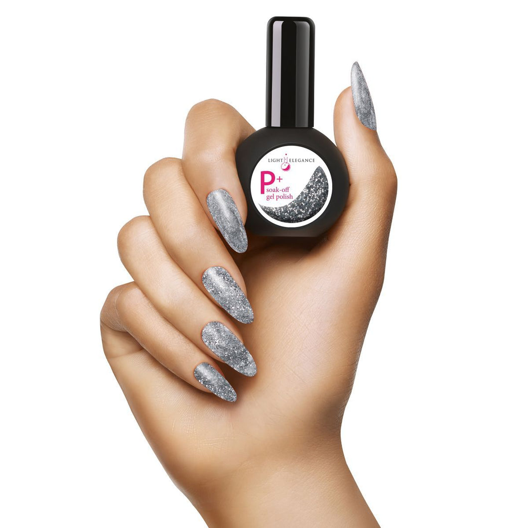 LE P+ Sterling Glitter Gel Polish 15mL