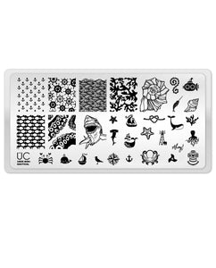 UberChic Stamping Plate Mini - Nautical