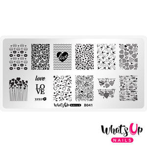 Whats Up Nails Stamping Plate - Season of Love