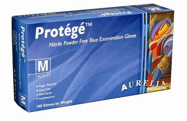 AUR  Protege Nitrile Gloves Blue