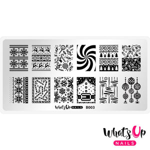 Whats Up Nails Stamping Plate - Sweater Weather