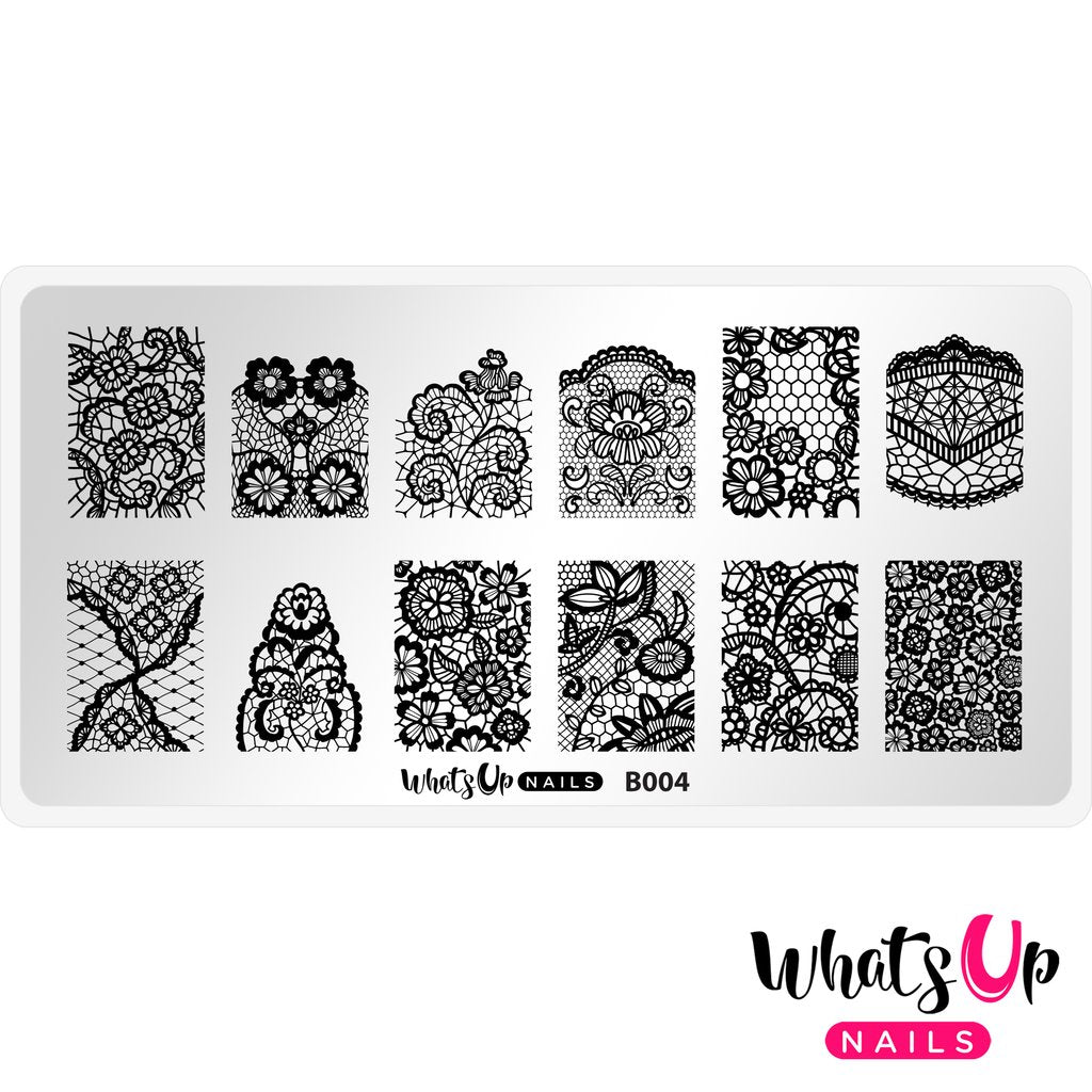 Whats Up Nails Stamping Plate - Seductive Lace