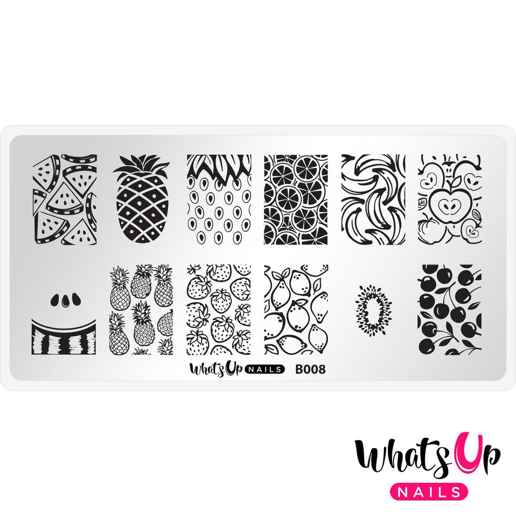 Whats Up Nails Stamping Plate - Summer Seeds