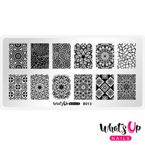Whats Up Nails Stamping Plate - Glass Masterpiece