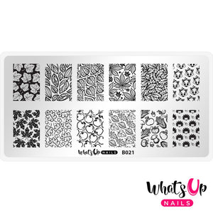 Whats Up Nails Stamping Plate - Autumn Tales