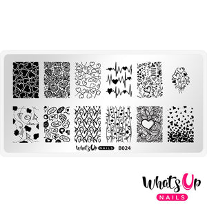 Whats Up Nails Stamping Plate - Love is Everywhere