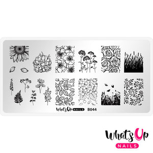 Whats Up Nails Stamping Plate - From Ground Comes Life
