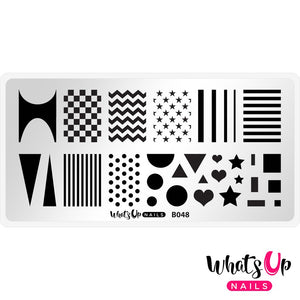 Whats Up Simple Shapes Stamping Plate