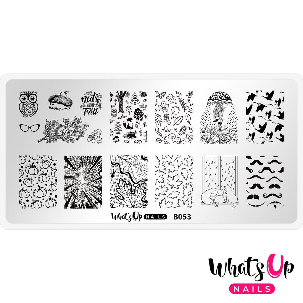 Whats Up Nails Stamping Plate - That's Pretty Autumn!