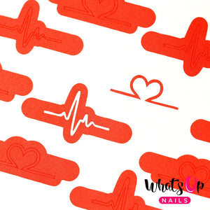 Whats Up Nails Stencils - Heartbeat (1 Sheet)