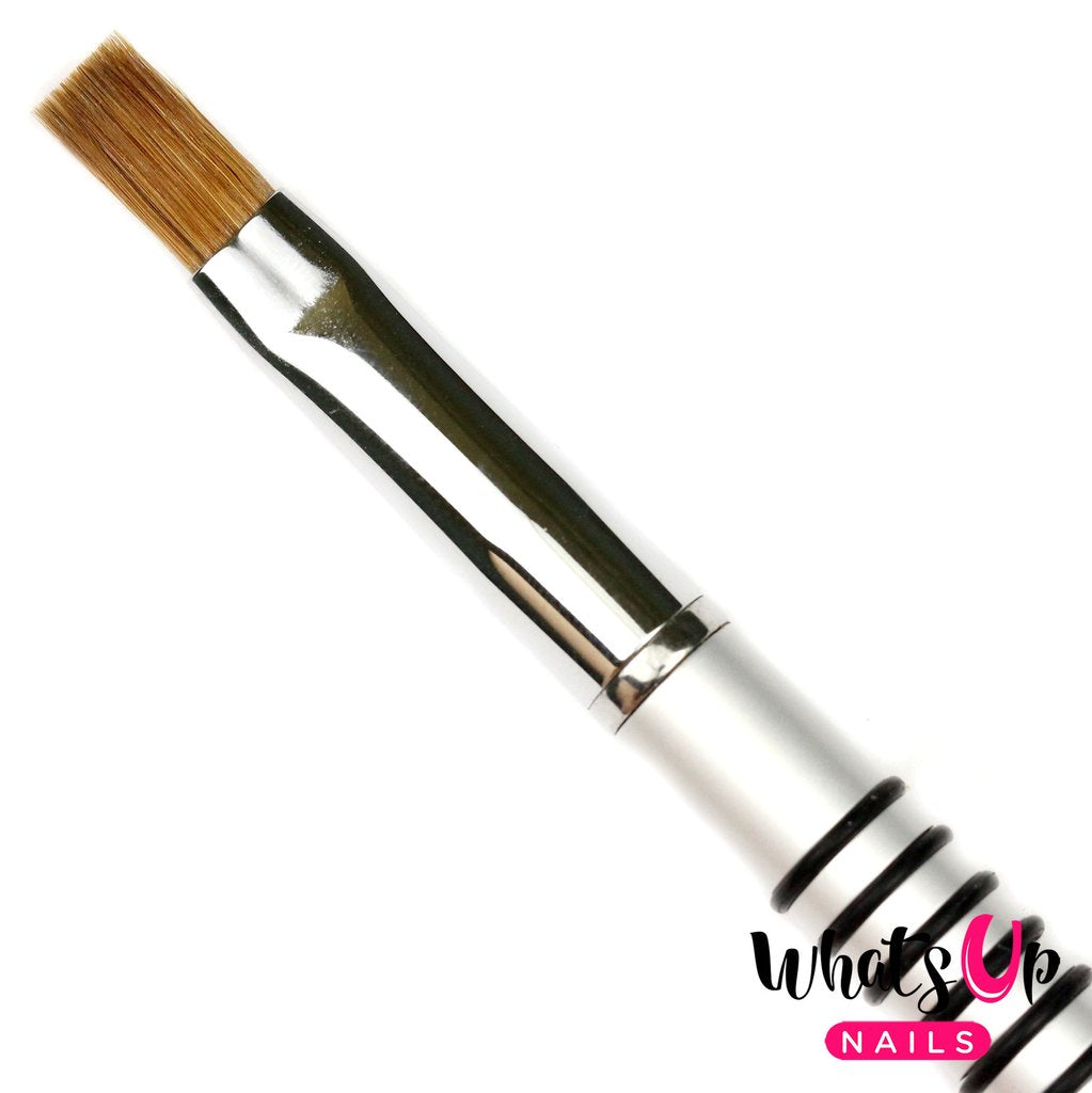 Whats Up Nails Brush - #13 Gel Flat