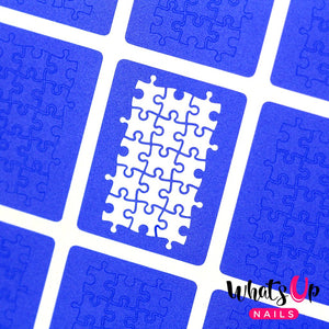 Whats Up Nails Stencils - Puzzle (1 Sheet)