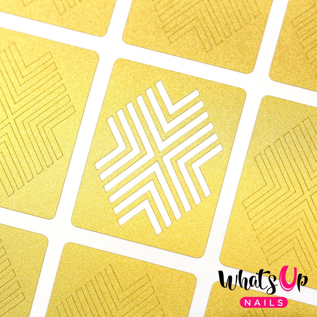 Whats Up Nails Stencils - X-pattern (1 Sheet)