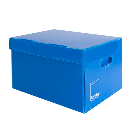 Plastic Archive Box - Attached Lid