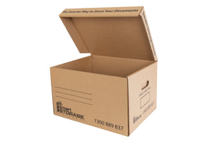 A4 Cardboard Archive Box with Attached Lid