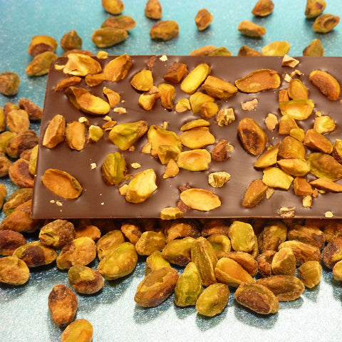 Pistachio Nuts with Dark Chocolate Bar