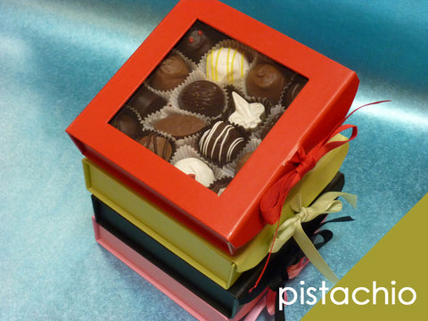 Gourmet Mixed Chocolates in Pistachio Gift Box, 16 pc.