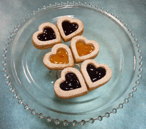 Mini Peach Linzer Cookie