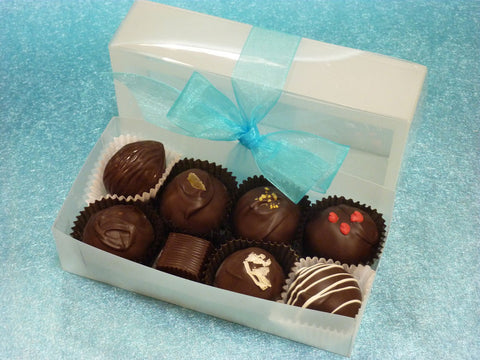 Gourmet Handmade Dark Chocolate Truffles, Signature Box of 8
