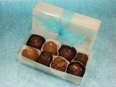 Gourmet Handmade Mixed Chocolate Truffles, Signature Box of 8