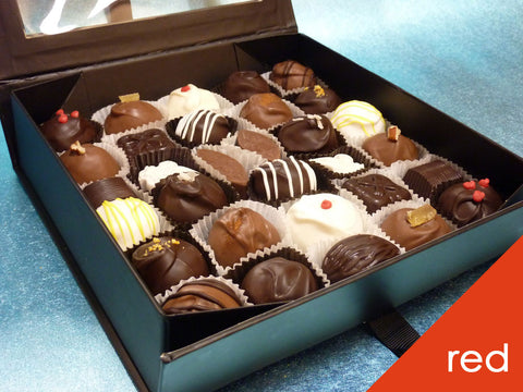 Gourmet Mixed Chocolates in Red Gift Box, 32 pc.