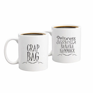 Princess Consuela Banana Hammock & Crap Bag  Coffee Mug Set