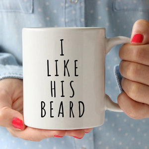 I Like His Beard, I Like Her Butt Coffee Mug Set