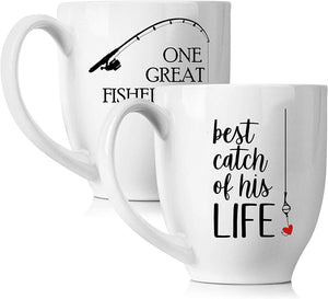 One Great Fisherman, Best Catch of His Life Coffee Mugs Set