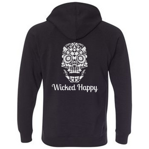 Wicked Happy - Skull Face Black
