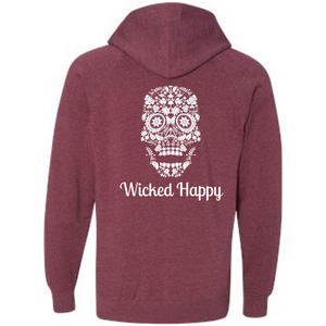 Wicked Happy - Skull Face Crimson