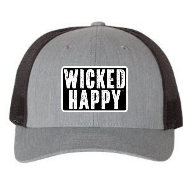 West Coast Mid-Level Trucker - Heather Grey-Black Back/Black Logo