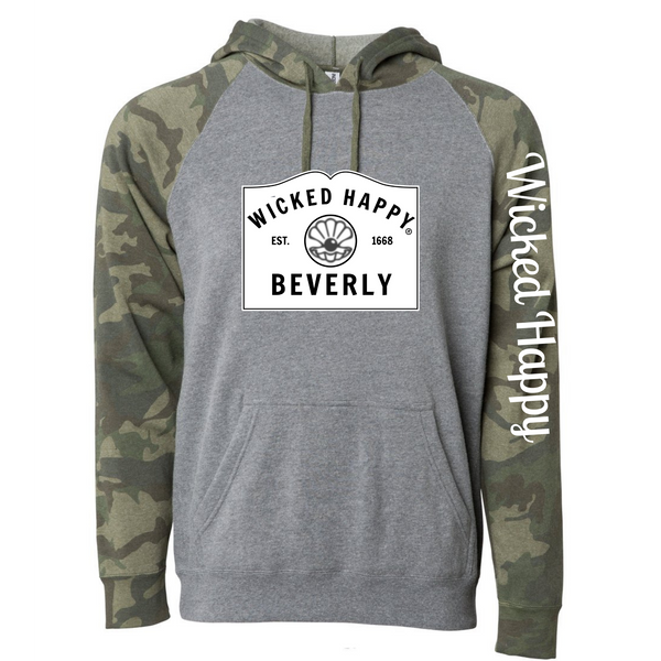 Wicked Happy - Beverly, MA - Nickel Heather/ Forest Camo
