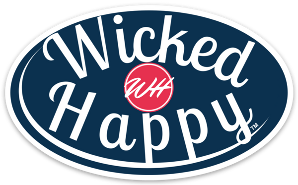 Wicked Happy Signature Stickers - Navy