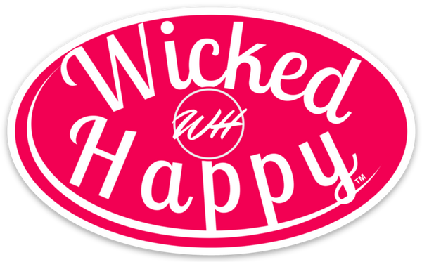 Wicked Happy Signature Stickers - Red