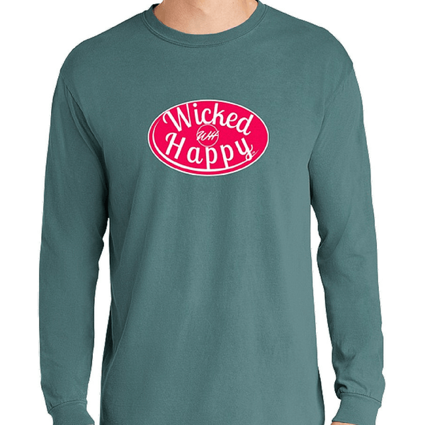 Signature Long Sleeve-Ice Blue/Red Logo