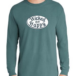 Signature Long Sleeve-Ice Blue/White Logo
