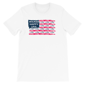 Fish Flag - White Unisex Triblend