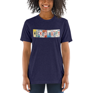 Wicked Happy Traveler - Unisex Navy Triblend